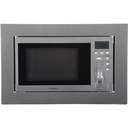 Nordmende NM825BIX 800W 20L Built-in Microwave And Grill With Building-in Kit - Stainless Steel