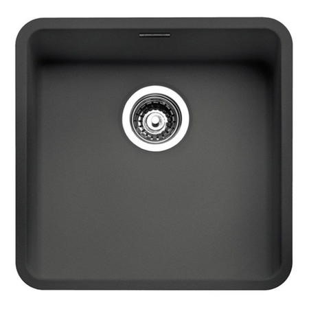 Reginox OHIO40X40CB Regi Color Ohio 1.0 Bowl Black Stainless Steel Kitchen Sink