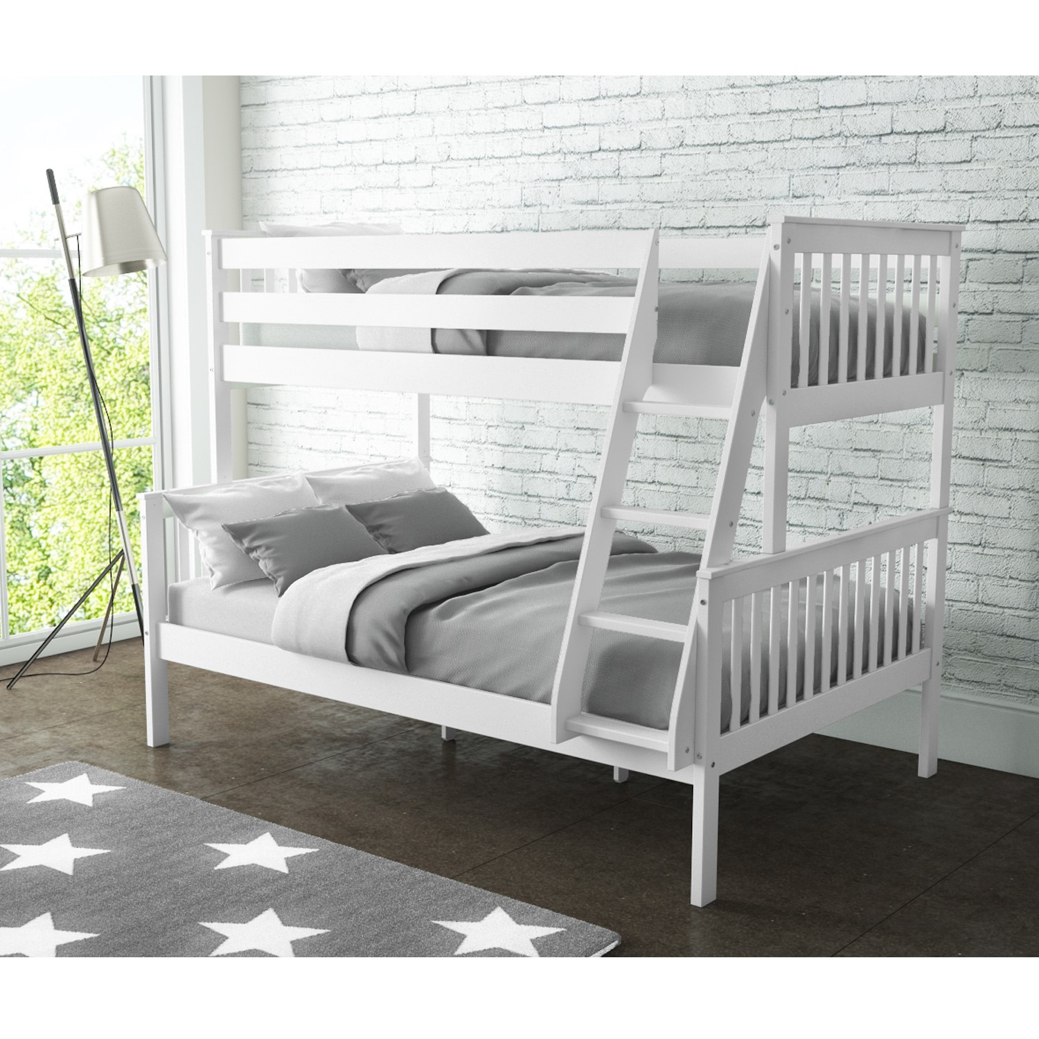 Oxf005 Oxford Triple Bunk Bed In Cream Buy It Direct