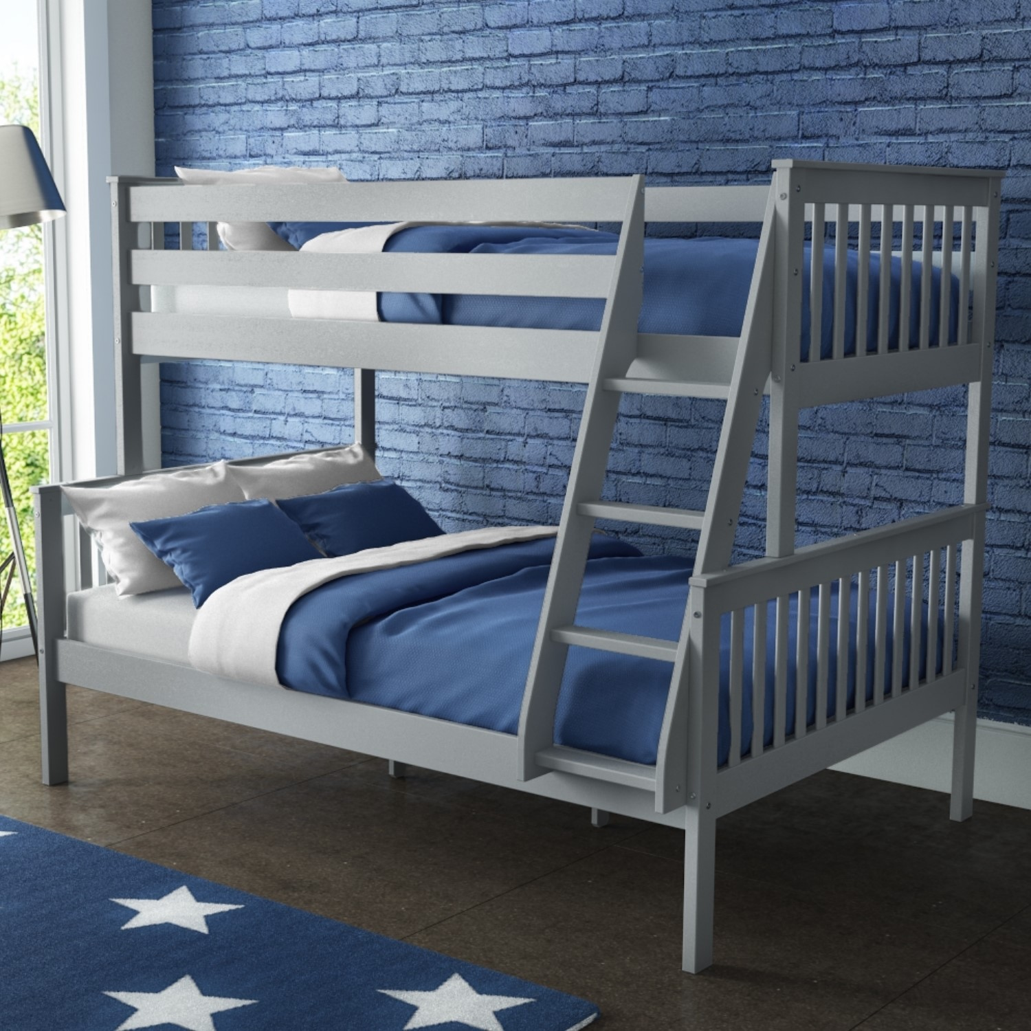 Picture of: Oxford Triple Bunk Bed In Light Grey Small Double Buyitdirect Ie