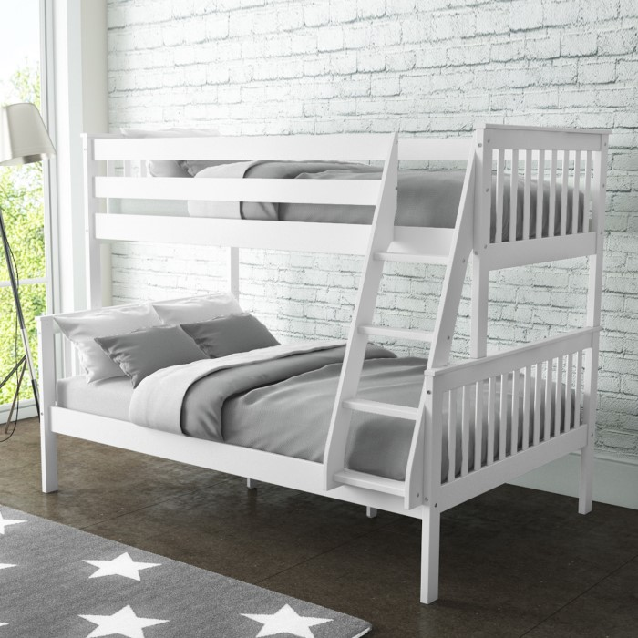 Oxford Triple Bunk Bed In White Small Double Buy It Direct