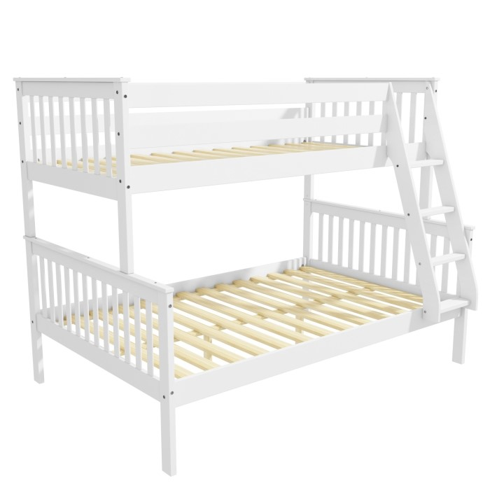 004c33ce0a3 Oxford Triple Bunk Bed in White - Small Double - Buy It Direct