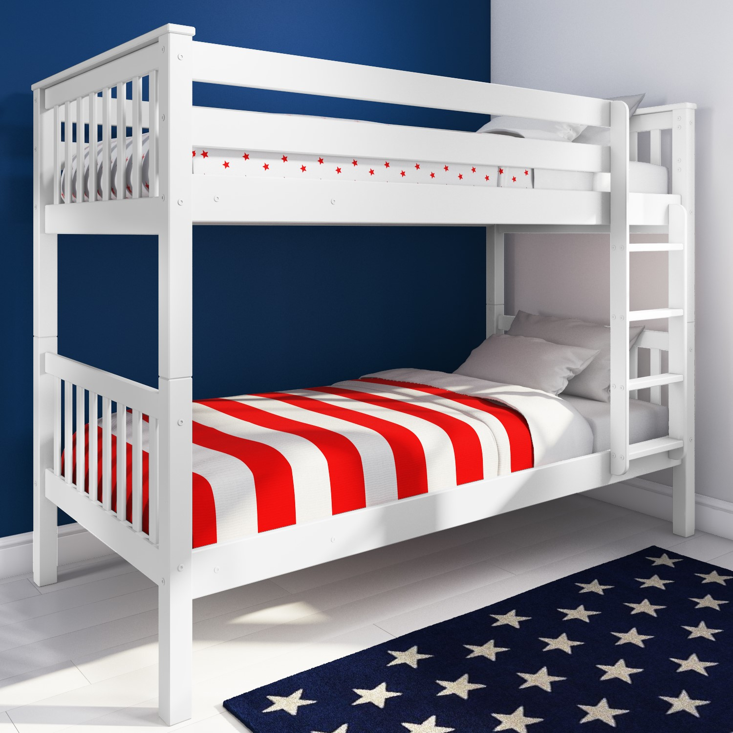 Oxford Single Bunk Bed In White Buy It Direct