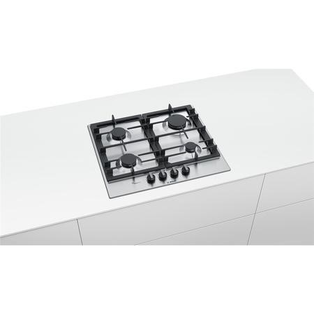 Bosch PCP6A5B90 Serie 6  60cm  Gas Hob in Stainless steel