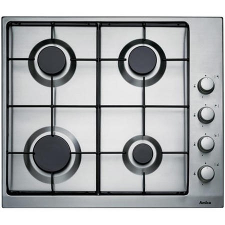 Amica PGX6610 60cm Four Burner Gas Hob Stainless Steel