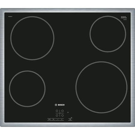 Bosch PKE645B17E Electric 4 Zone Ceramic Hob in Black