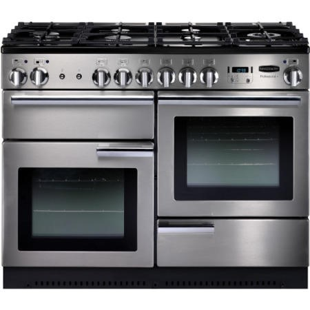Rangemaster PROP110NGFSSC Professional Plus 110cm Natural Gas Range Cooker - Stainless Steel