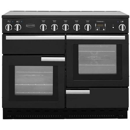 Rangemaster PROP110EIGBC Professional Plus 110cm Electric Range Cooker with Induction Hob - Black