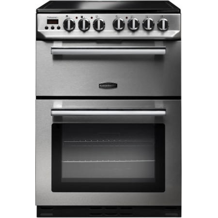 Rangemaster PROP60ECSSC Professional+ 60cm Double Oven Electric Cooker with Ceramic Hob - Stainless Steel