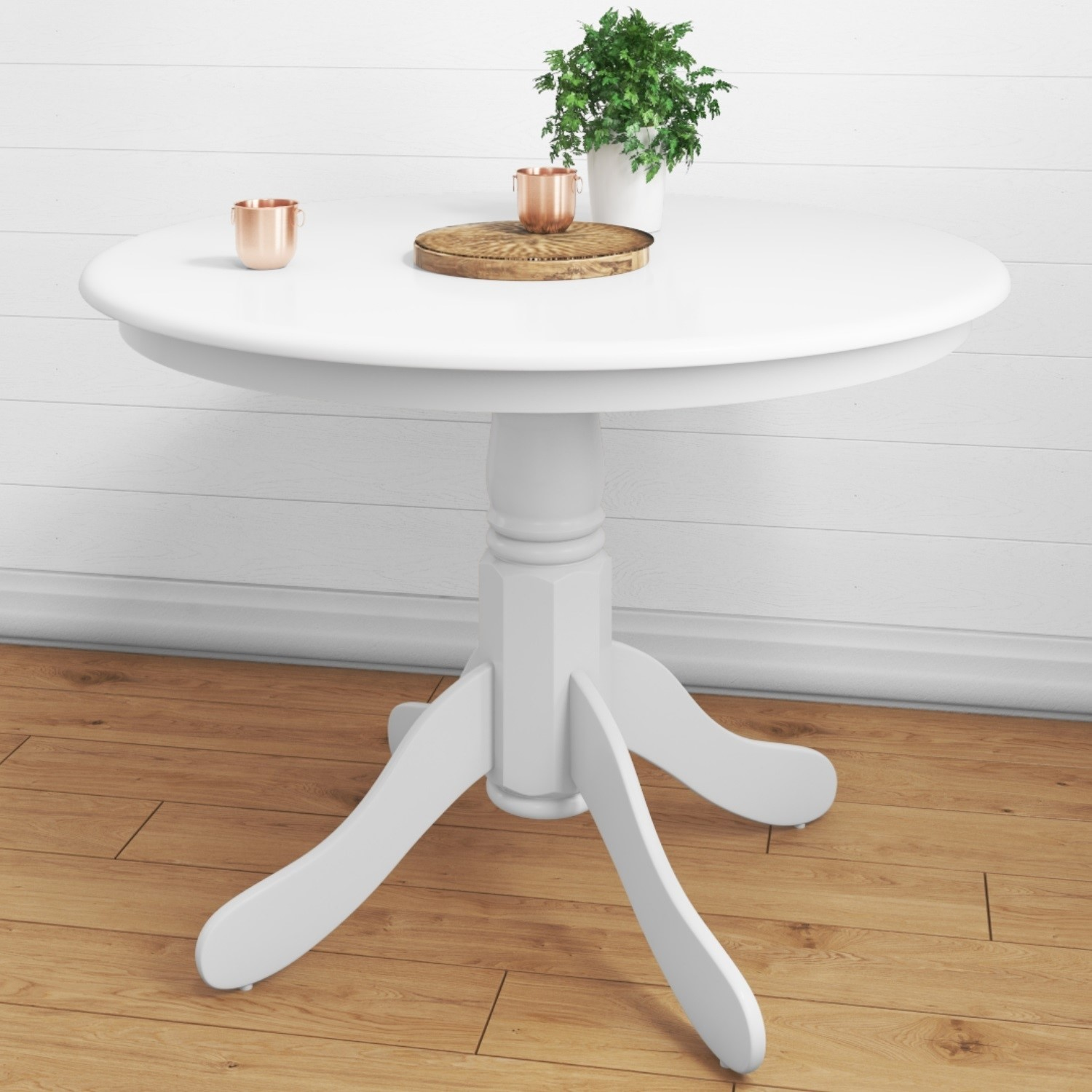 Rhode Island Small Round Dining Table In White Seats 4 Buy It