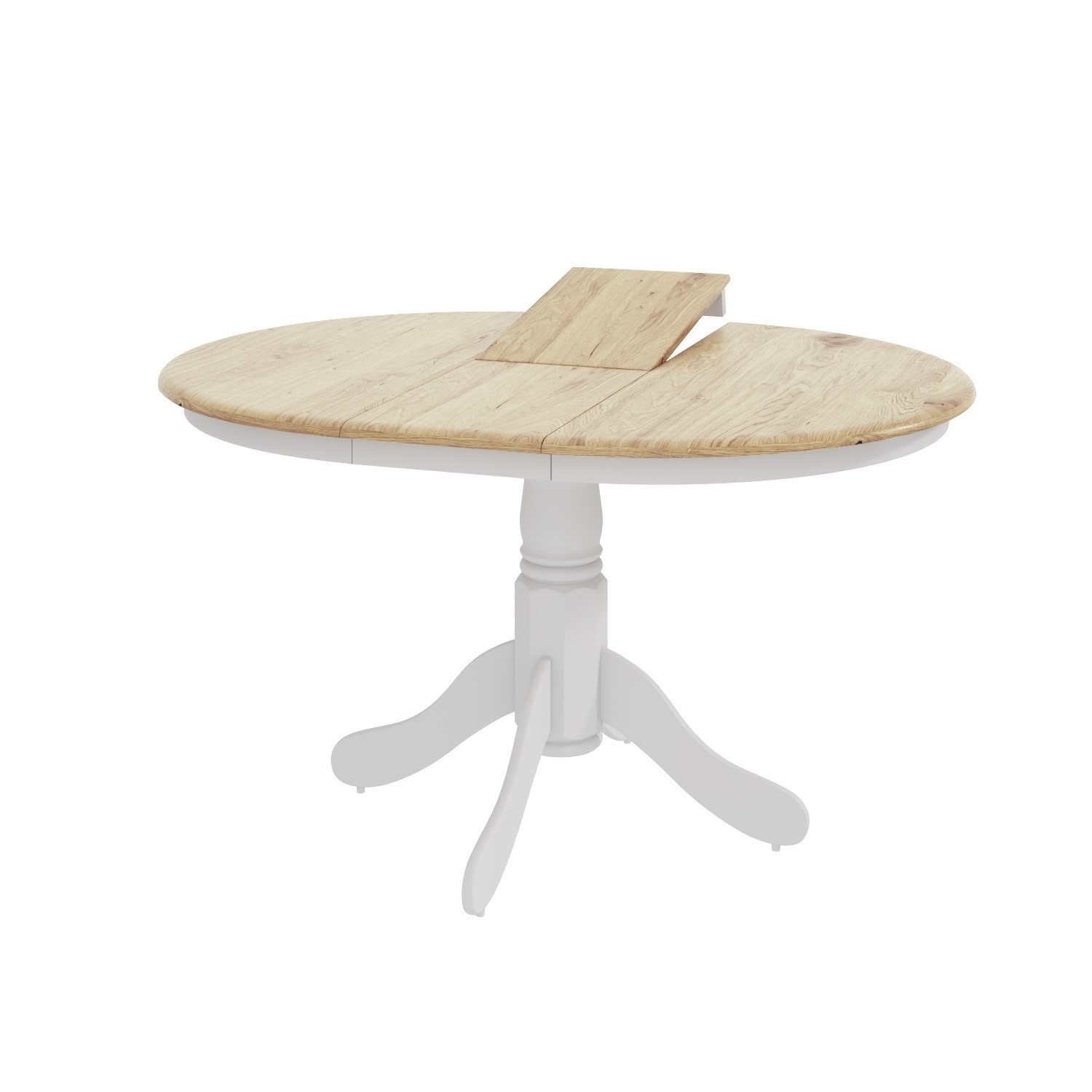 Rhode Island Solid Wood Extendable Round 6 Seater Dining Table In