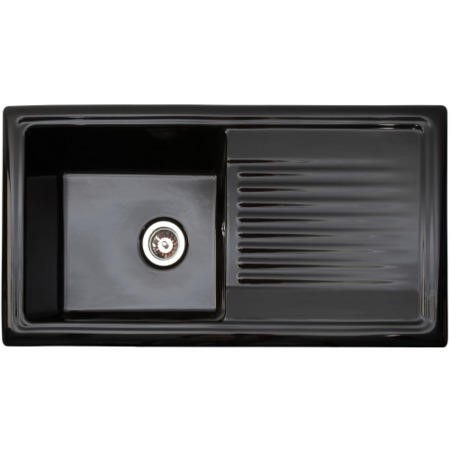 Reginox RL404CB 1.0 Bowl Reversible Inset Ceramic Sink Black