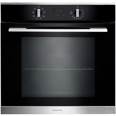 Rangemaster RMB608BLSS 60cm Built-in 8 Function Electric Single Oven