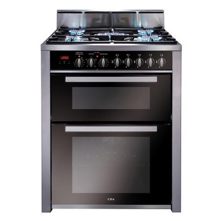 CDA RV701SS Double Oven 70cm Dual Fuel Range Cooker Stainless Steel