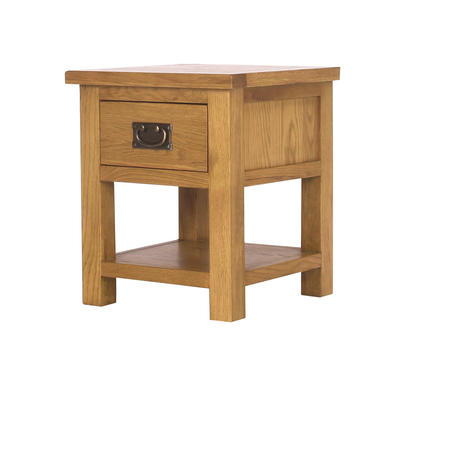 Solid Oak Side Table Rustic Saxon Range Buy It Direct