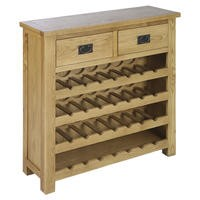 Rustic Saxon Wine Rack in Solid Oak