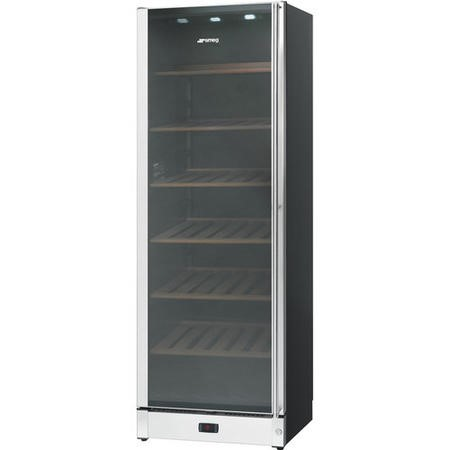 Smeg SCV115AS 60cm Classic Black & Stainless Steel Wine Cooler with Left Hand HingeGlass Door - 197