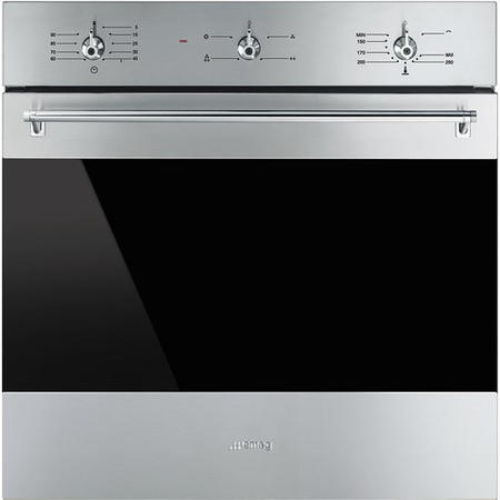 Smeg SF6341GVX Classic Gas Fan Oven With Electric Grill Stainless Steel With Dark Glass