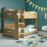 Sky Oak Bunk Bed with Adjustable Ladder
