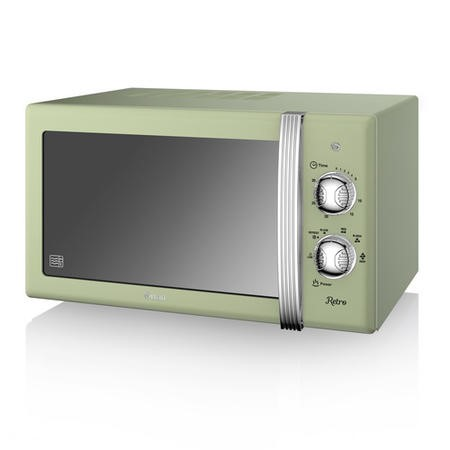 Swan Retro SM22130GN 20L 800W Freestanding Microwave - Green