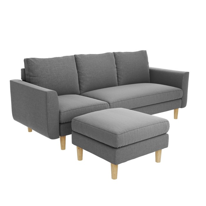 Brooke Chaise End Small Corner Sofa In Light Grey Right Left Hand Facing