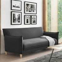 Marthe 3 Seater Sofa Bed in Charcoal Grey