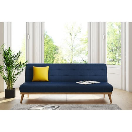 Marvelous Nova Slate Blue Multifunctional Sofa Bed With Click Clack Mechanism Home Interior And Landscaping Ologienasavecom