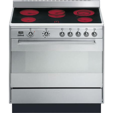 Smeg SUK91CMX9 Concert 90cm Stainless Steel Single Cavity Ceramic Range Cooker