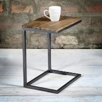 eacb618bbec59 Suri Modern Industrial Small Side Table in Mango Wood   Metal Detail