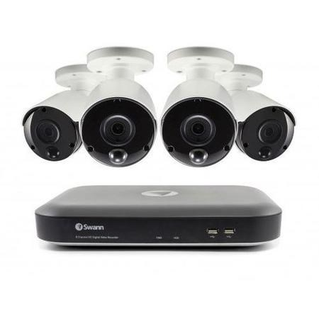 Swann CCTV System - 8 Channel 3MP DVR with 4 x 3MP Thermal Sensing Cameras & 2TB HDD
