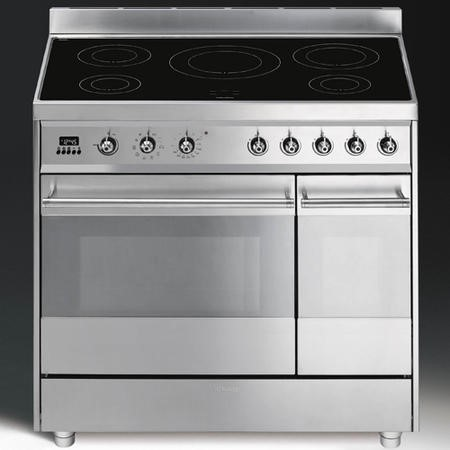 Smeg SY92IPX8 Symphony Dual Cavity Pyro Induction 90cm Electric Range Cooker in Stainless steel