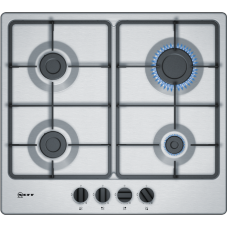Neff T26BB46N0 Four Burner Gas Hob Stainless Steel