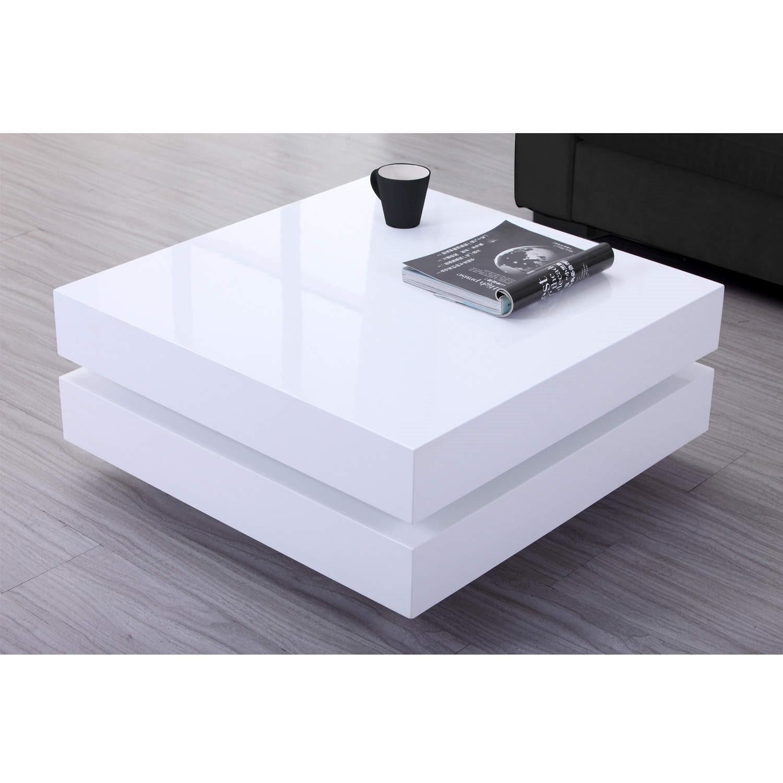 - High Gloss White Coffee Table With LED Lighting - Tiffany Range