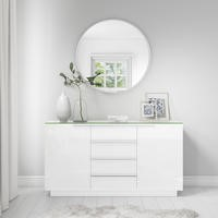 Evoque White High Gloss Sideboard
