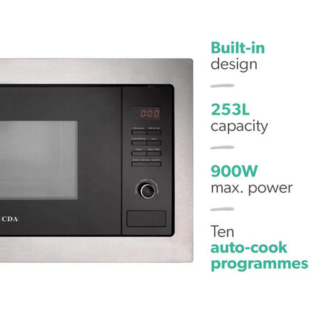 CDA VM130SS 25L 900W Built-in Standard Microwave Stainless