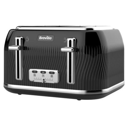 Breville VTT890 Flow Collection 4-slice Toaster - Black