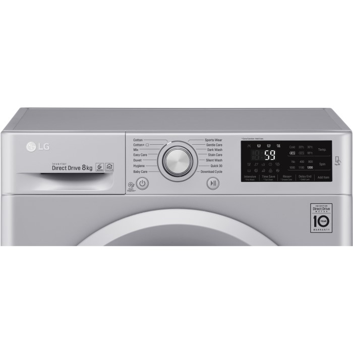 LG W5J5QN4L 7kg 1400rpm Freestanding Washing Machine - Silver