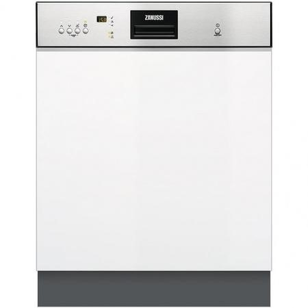 Zanussi ZDI26022XA 13 Place Semi Integrated Dishwasher - Stainless Steel Control Panel