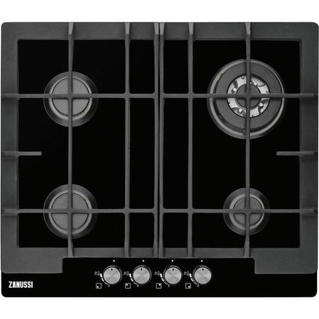 Zanussi ZGG66424BB 60cm Wide 4 Burner Gas Hob - Stainless Steel