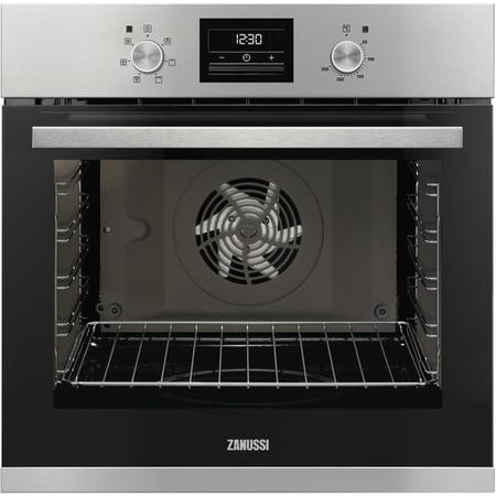 Zanussi ZOA35471XK Single Fan Oven With Programmable Timer - Stainless Steel