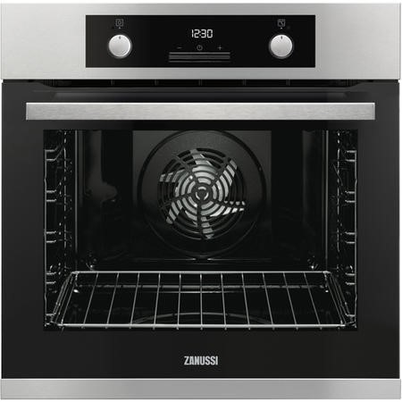 Zanussi ZOP37982XC Multifunction Single Oven With Pyrolytic Cleaning - Stainless Steel