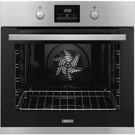 Zanussi ZOP37982XK 60cm Wide Multifunction Single Oven With Pyrolytic Cleaning - Stainless Steel