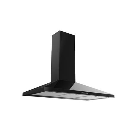 electriQ 90cm Traditional Chimney Cooker Hood in Black - 5 Year Warranty