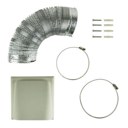 Universal 150mm x 3m Kitchen Cooker Hood Ducting Kit with Cowl Vent