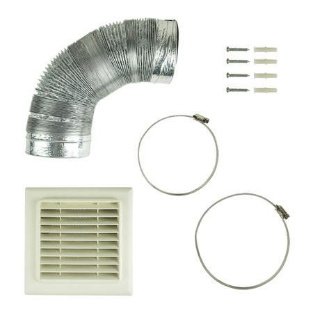 Universal Kitchen Cooker Hood Extractor Fan Vent Ducting Kit with Flat Vent - for 150mm  Air Outlet