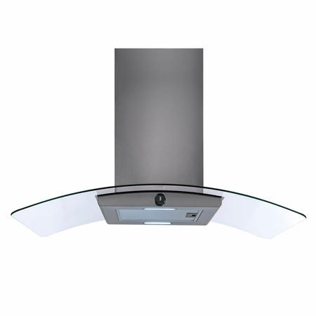 electriQ 100cm Island Premium Cooker Hood in Stainless Steel