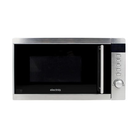 electriQ 20L 800W Freestanding Microwave with Digital Display - Stainless Steel