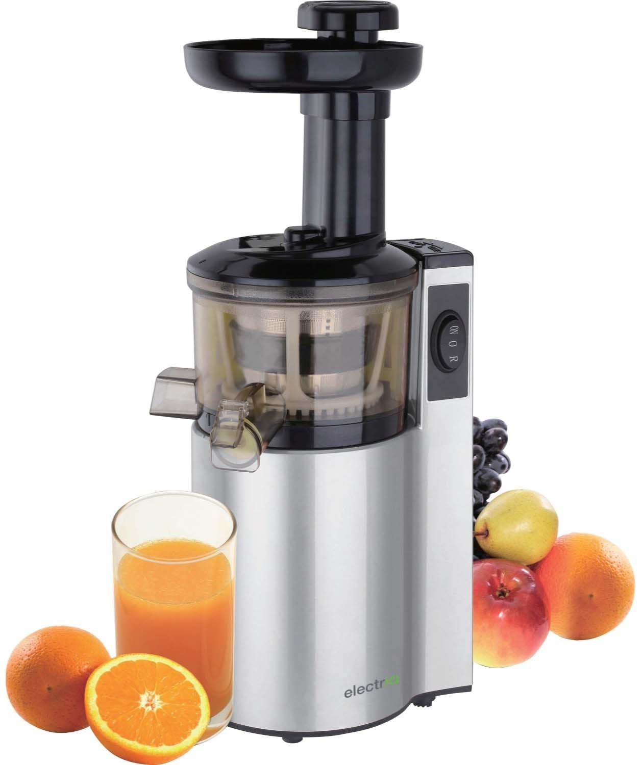 Slow Juicer And Smoothie Maker : GRADE A1 - ElectriQ Premium Cold Pressed vertical Slow ...
